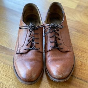Brown Leather Frye Oxfords